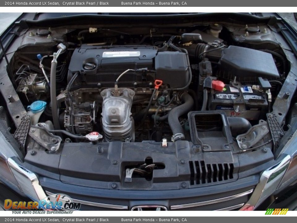 2014 Honda Accord LX Sedan Crystal Black Pearl / Black Photo #25