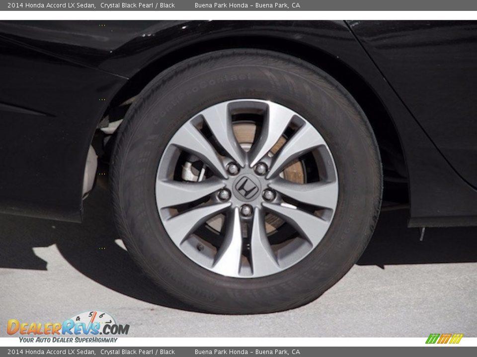 2014 Honda Accord LX Sedan Crystal Black Pearl / Black Photo #26
