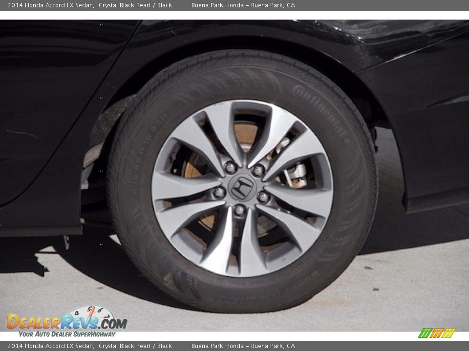 2014 Honda Accord LX Sedan Crystal Black Pearl / Black Photo #28