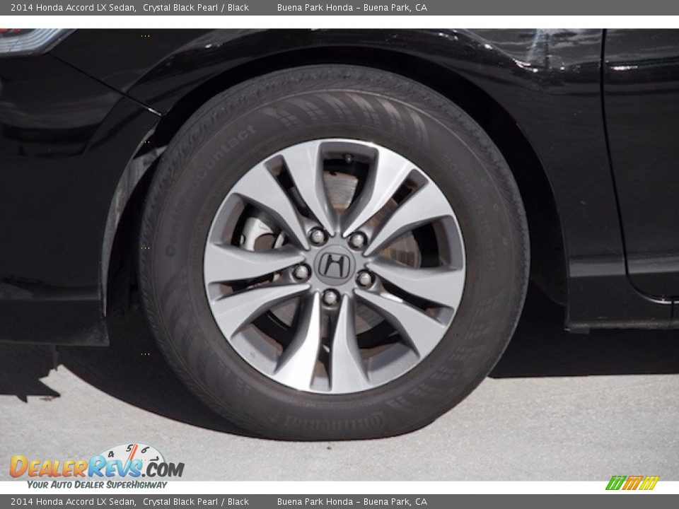 2014 Honda Accord LX Sedan Crystal Black Pearl / Black Photo #29