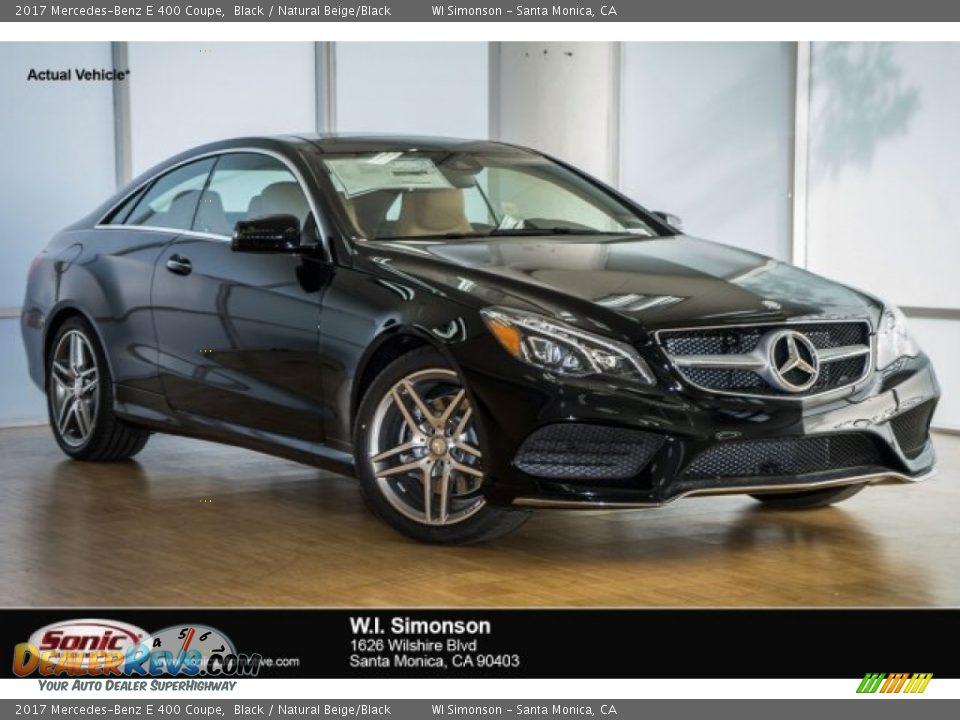 2017 Mercedes-Benz E 400 Coupe Black / Natural Beige/Black Photo #1