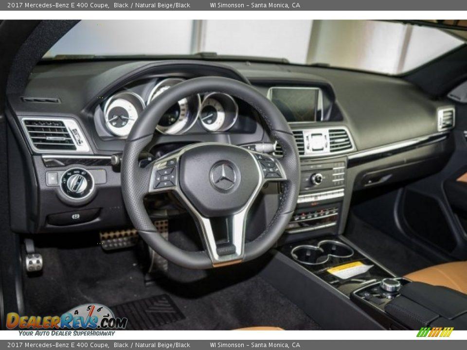 2017 Mercedes-Benz E 400 Coupe Black / Natural Beige/Black Photo #5