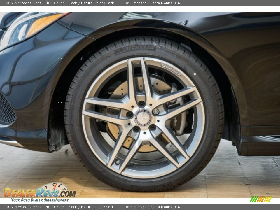 2017 Mercedes-Benz E 400 Coupe Black / Natural Beige/Black Photo #10