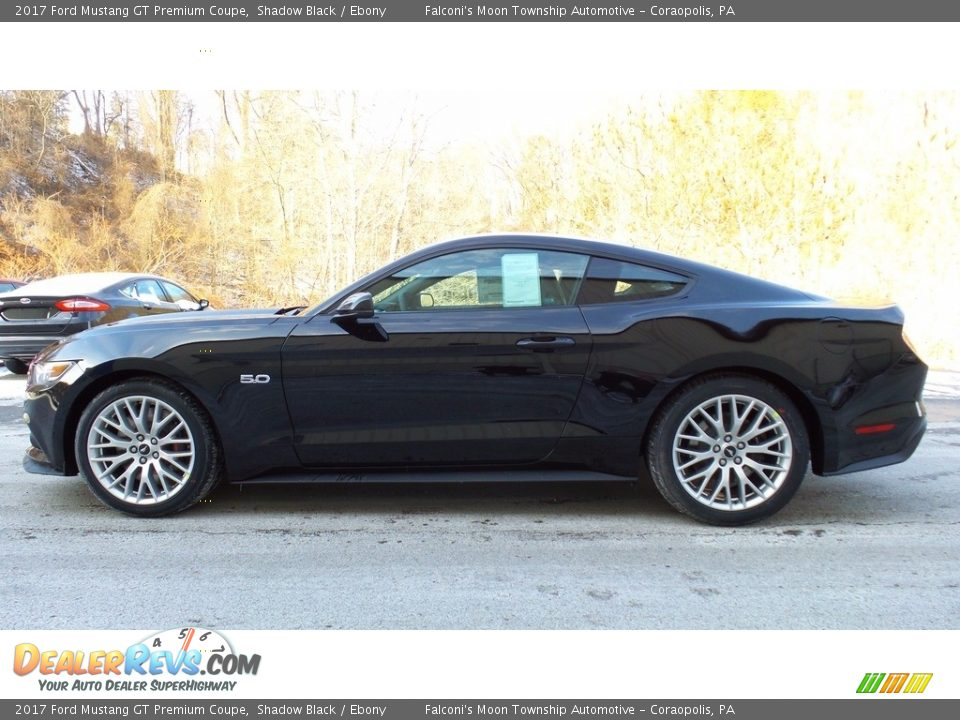2017 Ford Mustang GT Premium Coupe Shadow Black / Ebony Photo #1