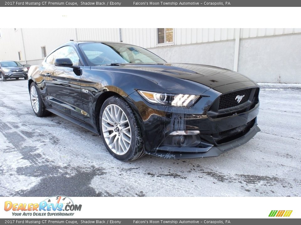 2017 Ford Mustang GT Premium Coupe Shadow Black / Ebony Photo #4