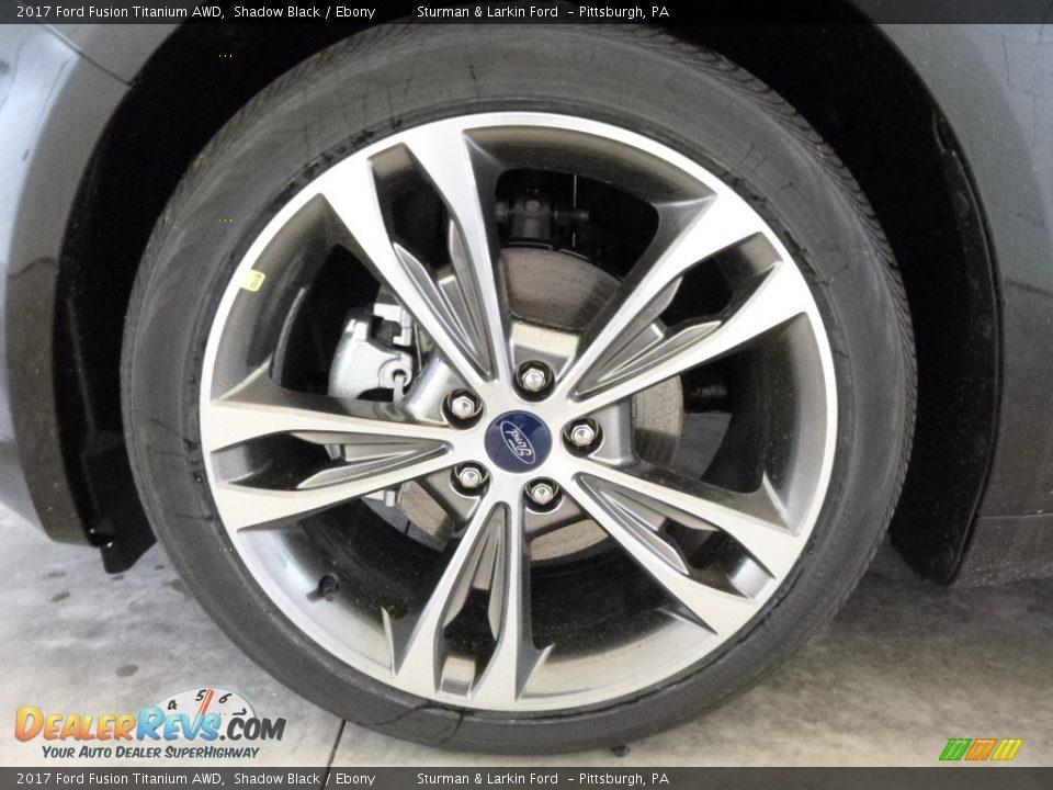 2017 Ford Fusion Titanium AWD Shadow Black / Ebony Photo #6