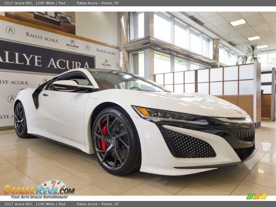 2017 Acura NSX 130R White / Red Photo #16