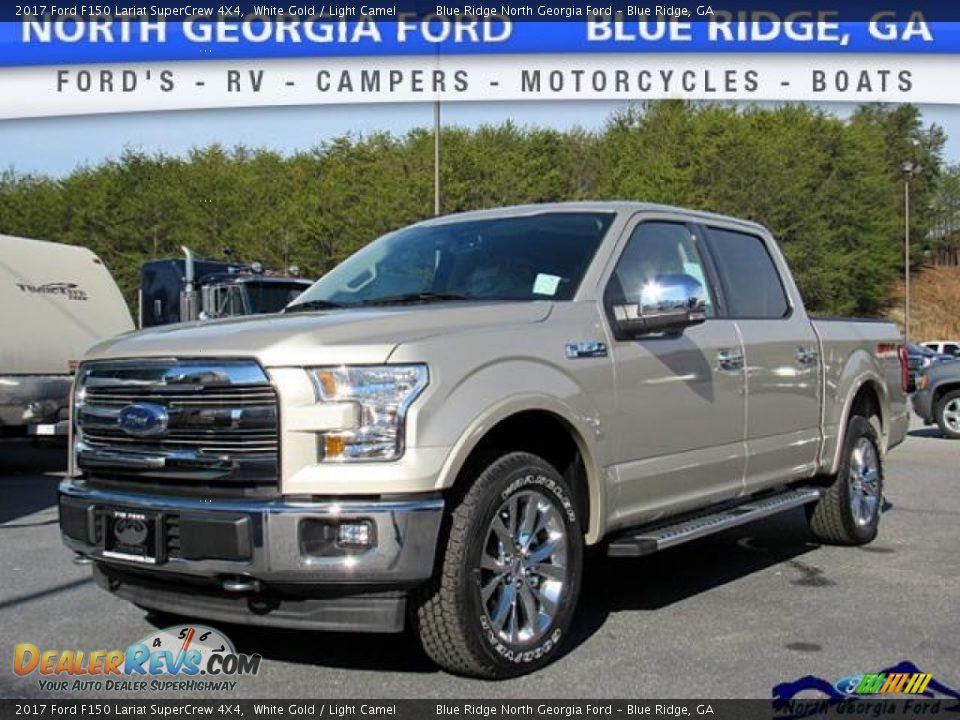 2017 Ford F150 Lariat SuperCrew 4X4 White Gold / Light Camel Photo #1