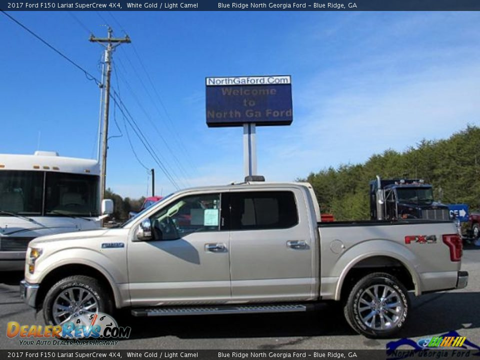 2017 Ford F150 Lariat SuperCrew 4X4 White Gold / Light Camel Photo #2