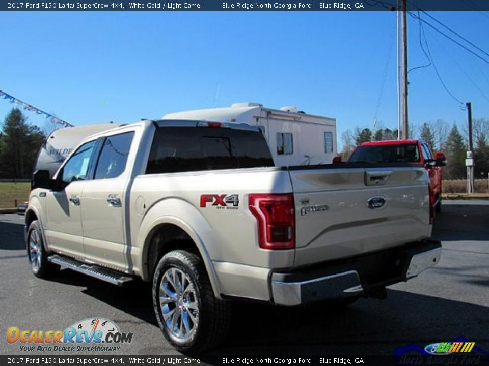 2017 Ford F150 Lariat SuperCrew 4X4 White Gold / Light Camel Photo #3