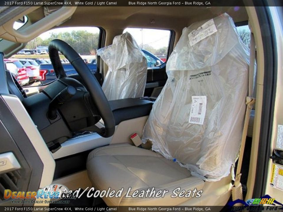 2017 Ford F150 Lariat SuperCrew 4X4 White Gold / Light Camel Photo #11