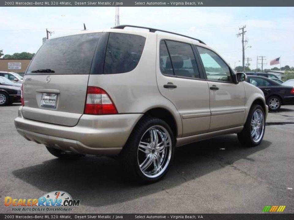2003 mercedes benz ml 320 4matic desert silver metallic for Mercedes benz 320 ml