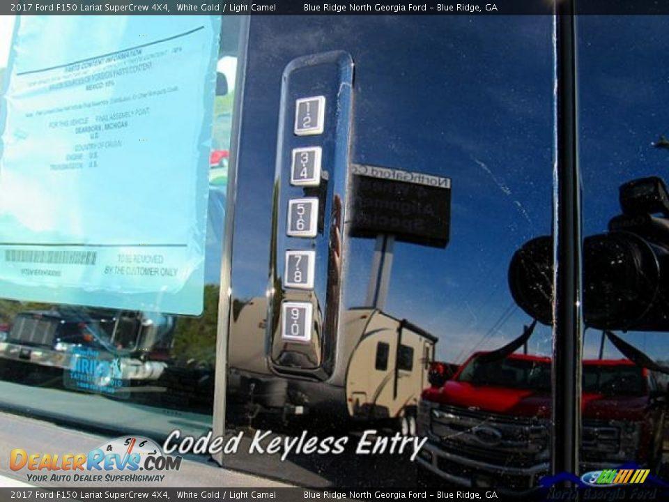 2017 Ford F150 Lariat SuperCrew 4X4 White Gold / Light Camel Photo #29