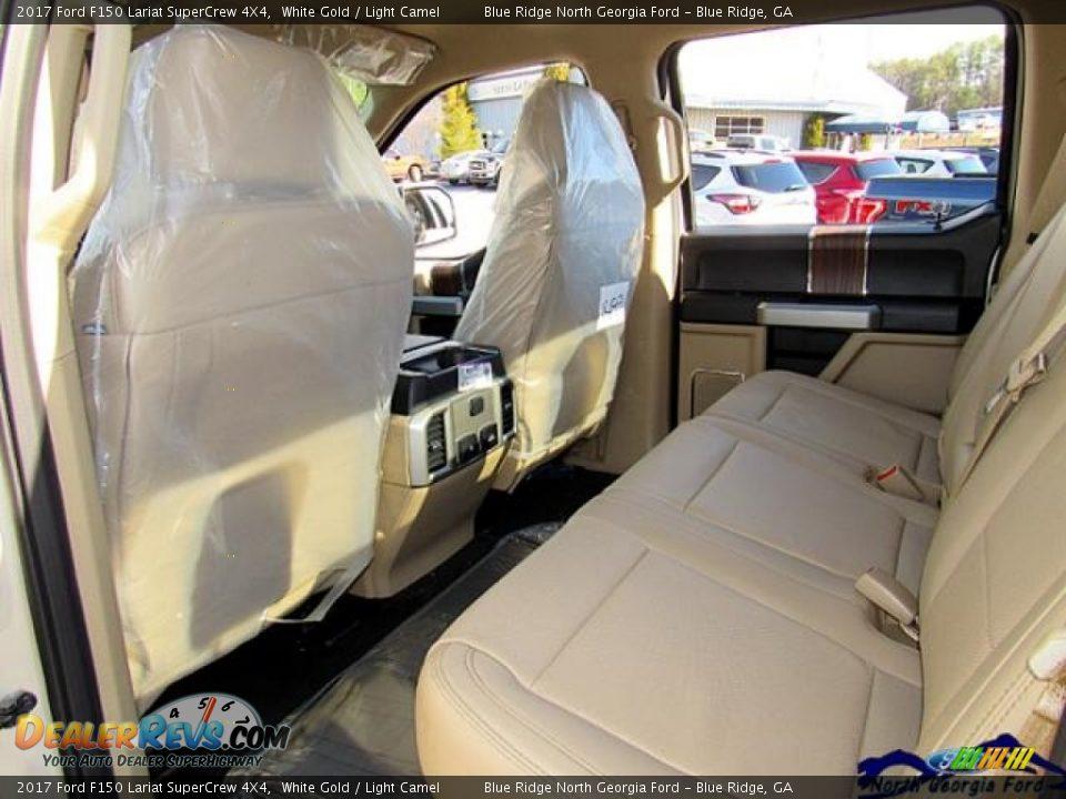 2017 Ford F150 Lariat SuperCrew 4X4 White Gold / Light Camel Photo #34