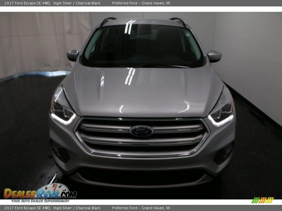 2017 Ford Escape SE 4WD Ingot Silver / Charcoal Black Photo #6