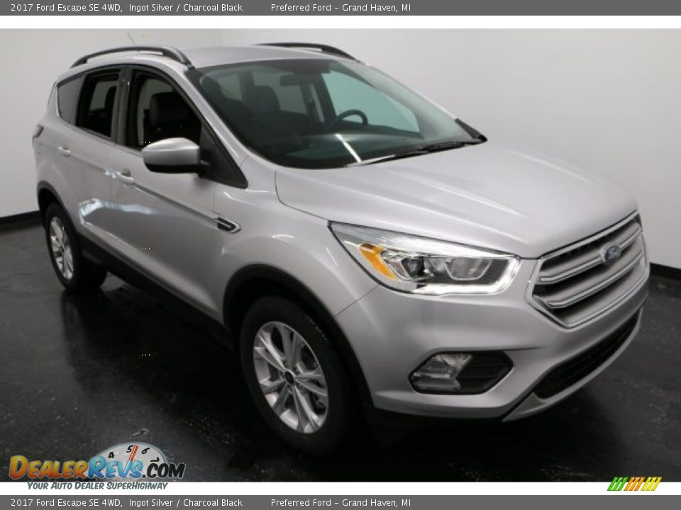 2017 Ford Escape SE 4WD Ingot Silver / Charcoal Black Photo #7