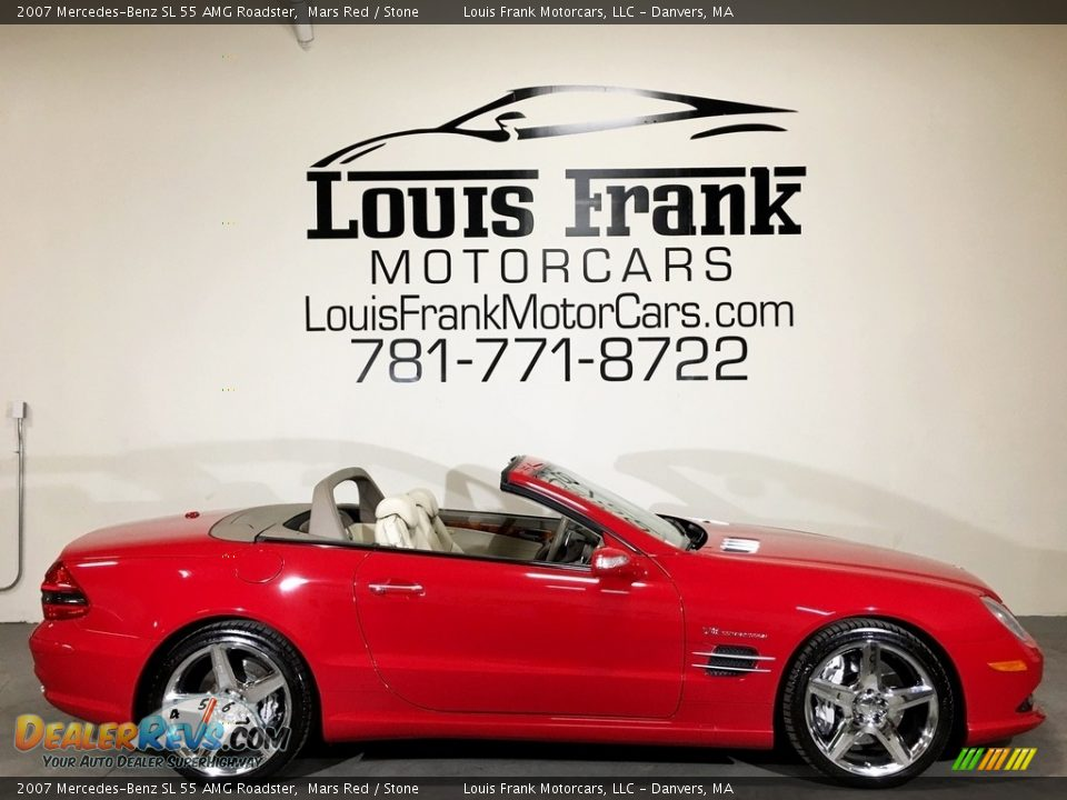 2007 Mercedes-Benz SL 55 AMG Roadster Mars Red / Stone Photo #6