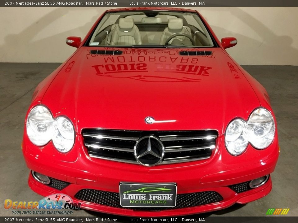 2007 Mercedes-Benz SL 55 AMG Roadster Mars Red / Stone Photo #7