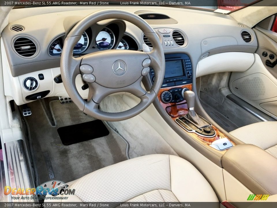 2007 Mercedes-Benz SL 55 AMG Roadster Mars Red / Stone Photo #9