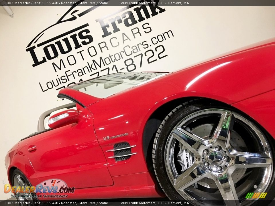 2007 Mercedes-Benz SL 55 AMG Roadster Mars Red / Stone Photo #22