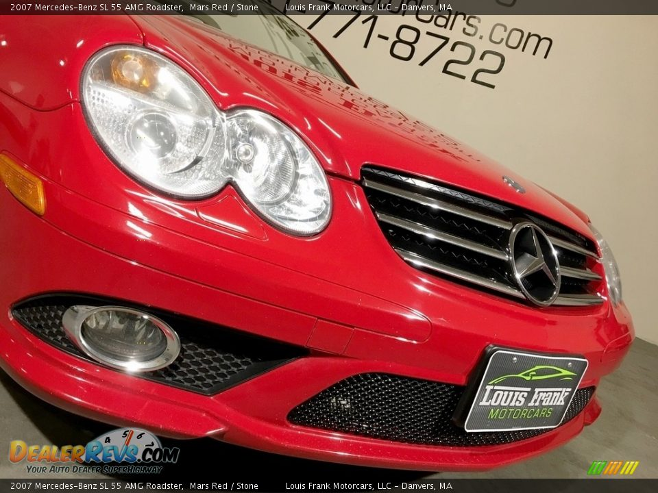 2007 Mercedes-Benz SL 55 AMG Roadster Mars Red / Stone Photo #26