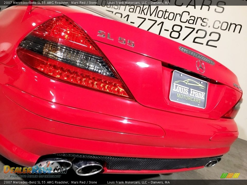 2007 Mercedes-Benz SL 55 AMG Roadster Mars Red / Stone Photo #29