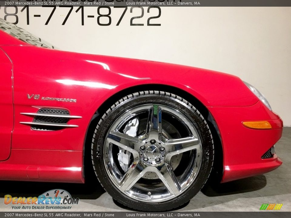 2007 Mercedes-Benz SL 55 AMG Roadster Mars Red / Stone Photo #31