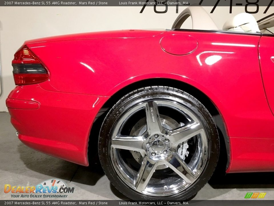 2007 Mercedes-Benz SL 55 AMG Roadster Mars Red / Stone Photo #35