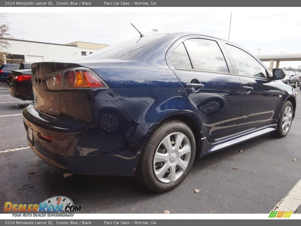 2014 Mitsubishi Lancer ES Cosmic Blue / Black Photo #3