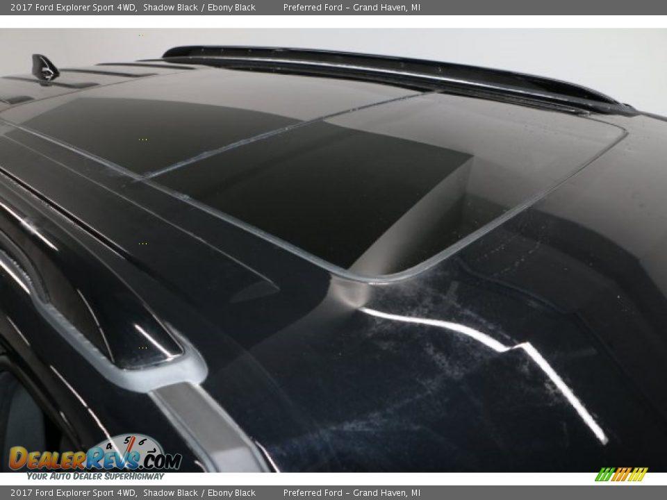 2017 Ford Explorer Sport 4WD Shadow Black / Ebony Black Photo #4