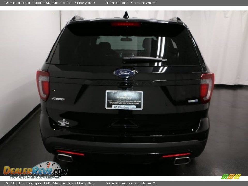 2017 Ford Explorer Sport 4WD Shadow Black / Ebony Black Photo #11