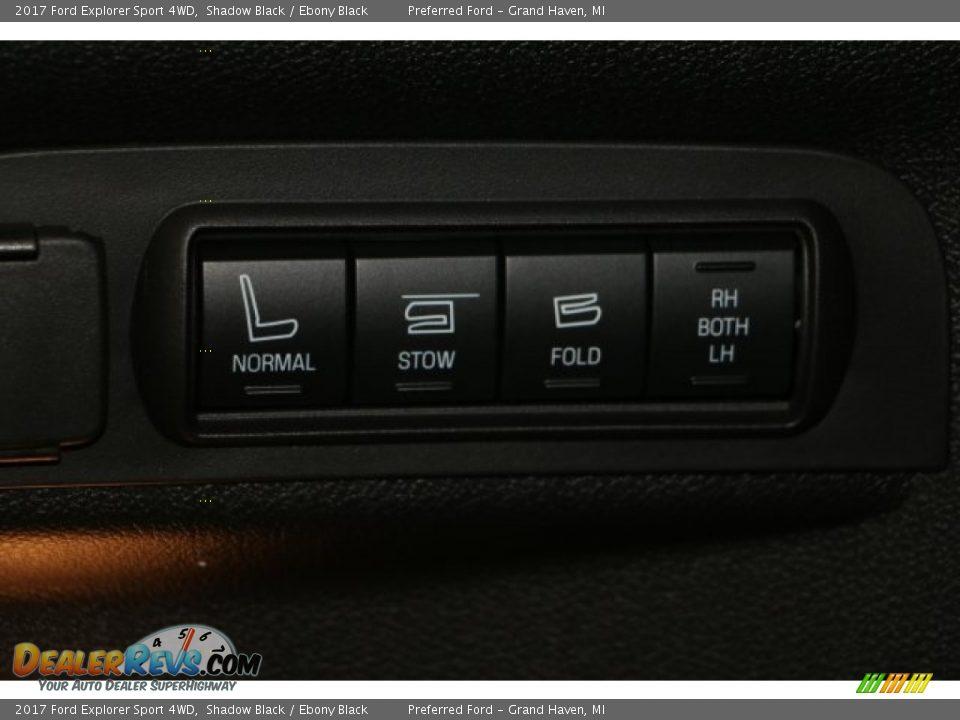 2017 Ford Explorer Sport 4WD Shadow Black / Ebony Black Photo #13
