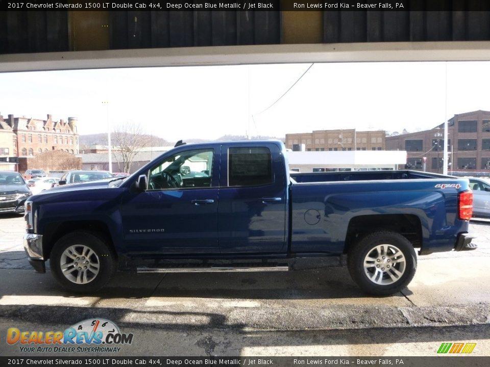 2017 Chevrolet Silverado 1500 LT Double Cab 4x4 Deep Ocean Blue Metallic / Jet Black Photo #6