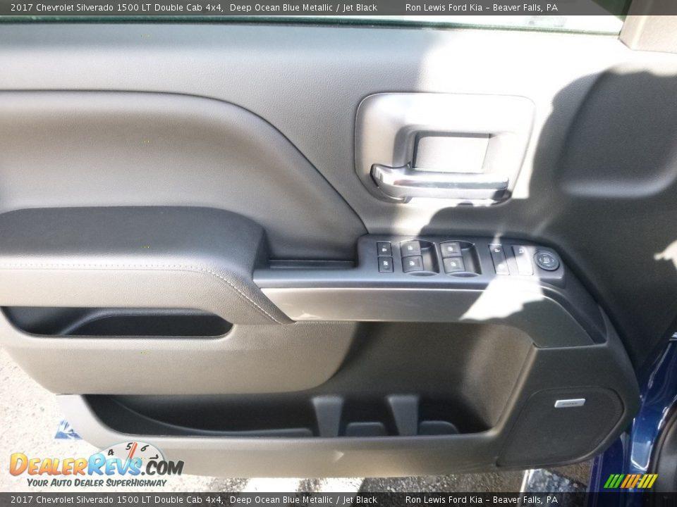 2017 Chevrolet Silverado 1500 LT Double Cab 4x4 Deep Ocean Blue Metallic / Jet Black Photo #14
