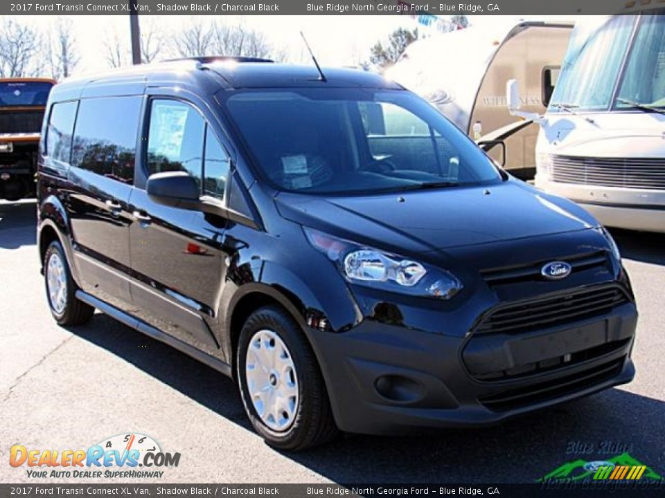 2017 Ford Transit Connect XL Van Shadow Black / Charcoal Black Photo #8