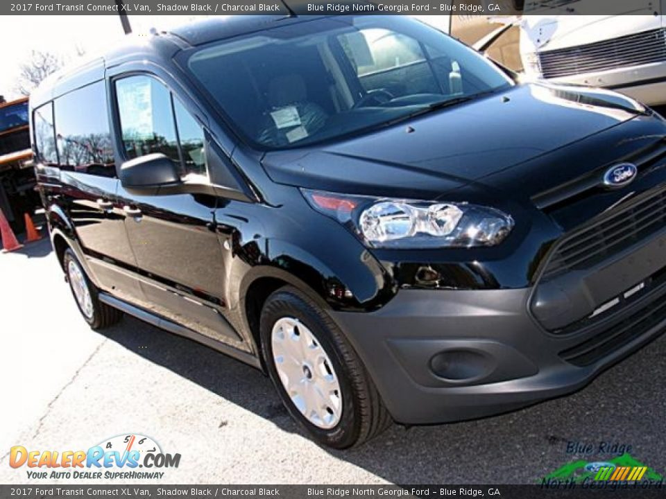 2017 Ford Transit Connect XL Van Shadow Black / Charcoal Black Photo #28