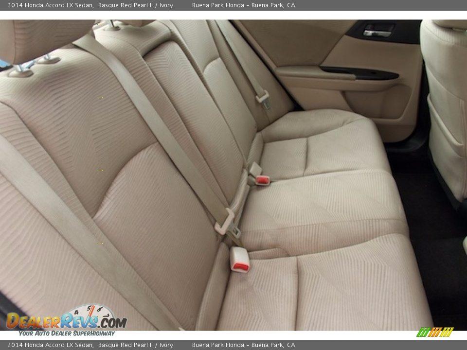 2014 Honda Accord LX Sedan Basque Red Pearl II / Ivory Photo #14