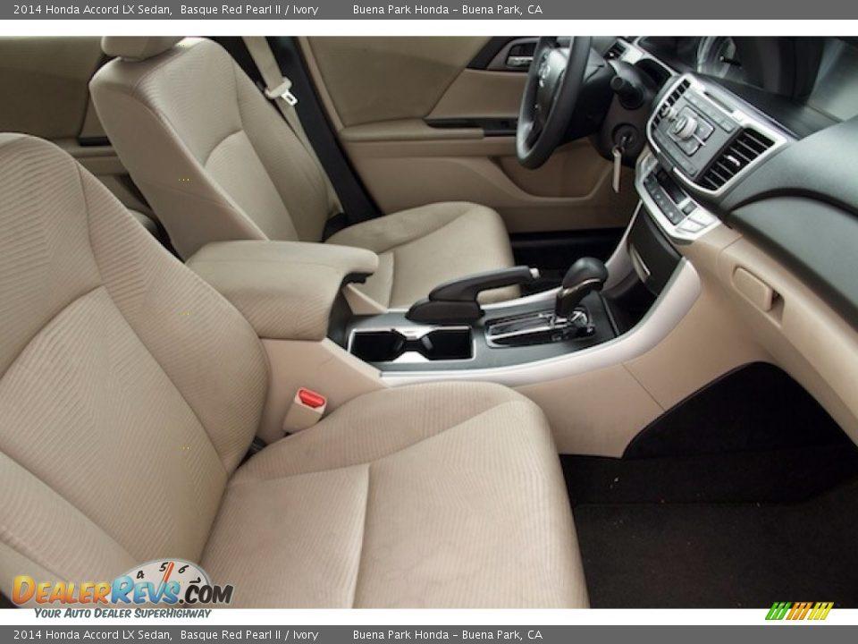 2014 Honda Accord LX Sedan Basque Red Pearl II / Ivory Photo #16