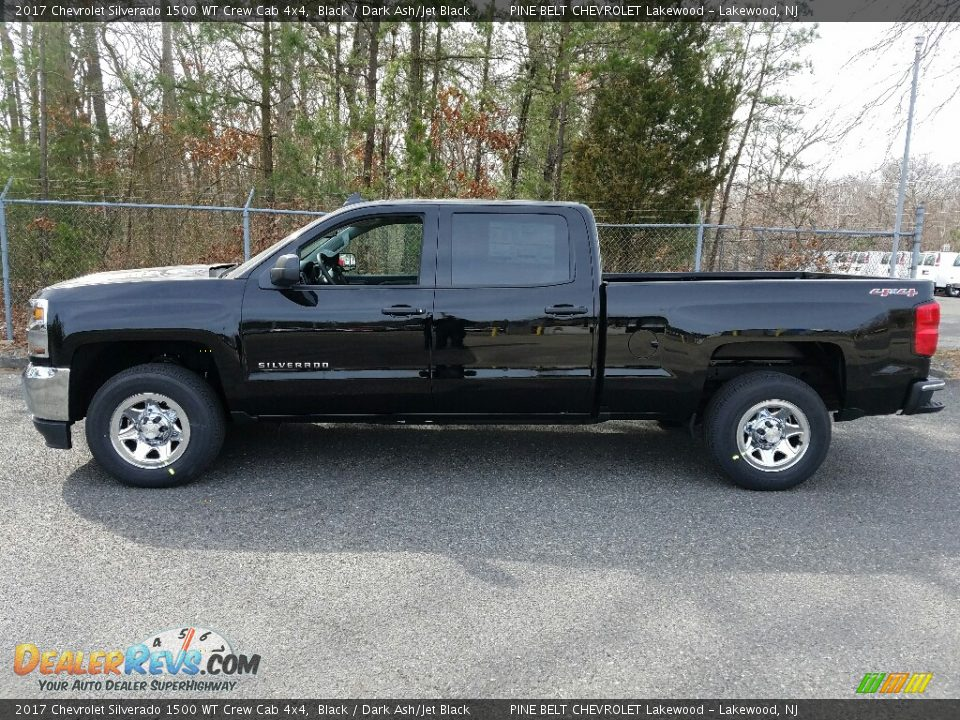 2017 Chevrolet Silverado 1500 WT Crew Cab 4x4 Black / Dark Ash/Jet Black Photo #3
