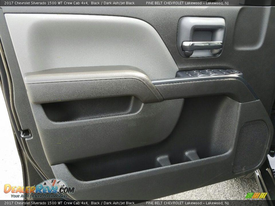 2017 Chevrolet Silverado 1500 WT Crew Cab 4x4 Black / Dark Ash/Jet Black Photo #6
