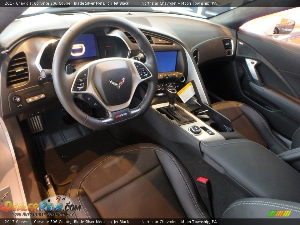 Jet Black Interior - 2017 Chevrolet Corvette Z06 Coupe Photo #16