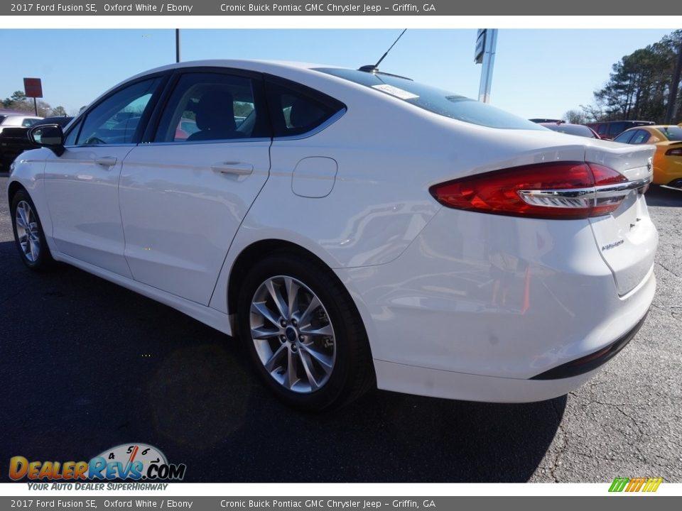 2017 Ford Fusion SE Oxford White / Ebony Photo #5