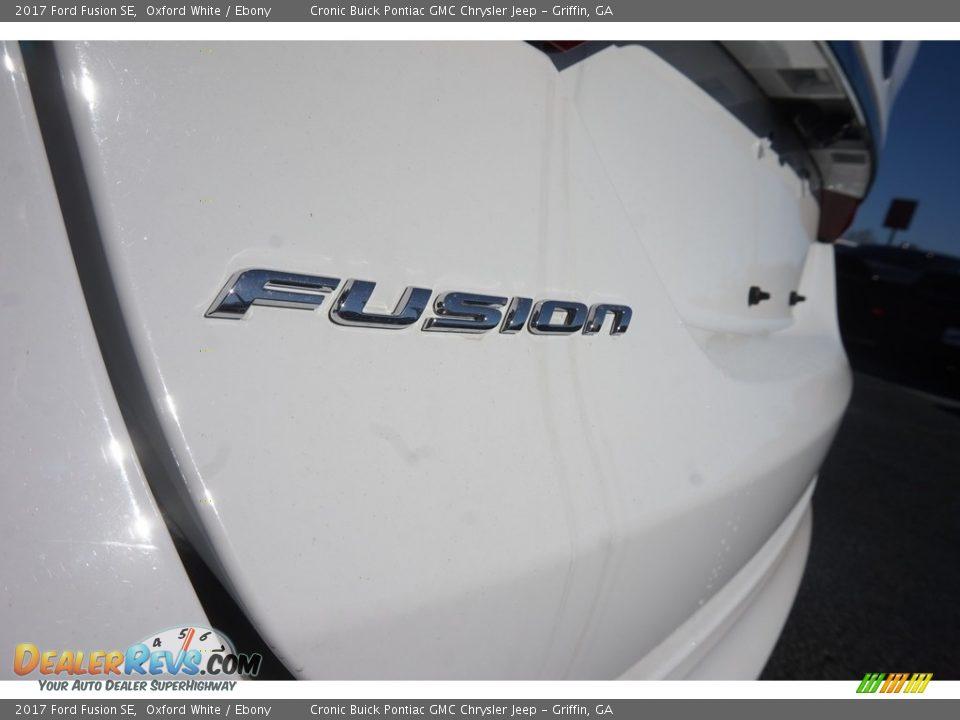 2017 Ford Fusion SE Oxford White / Ebony Photo #12