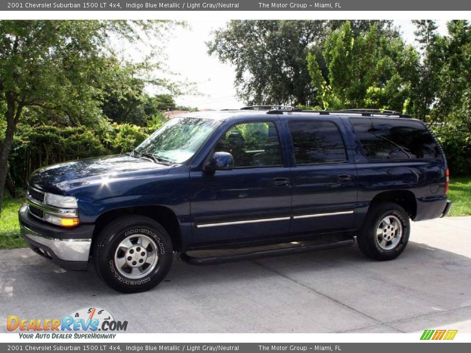2001 Chevrolet Suburban 1500 LT 4x4 Indigo Blue Metallic / Light Gray ...