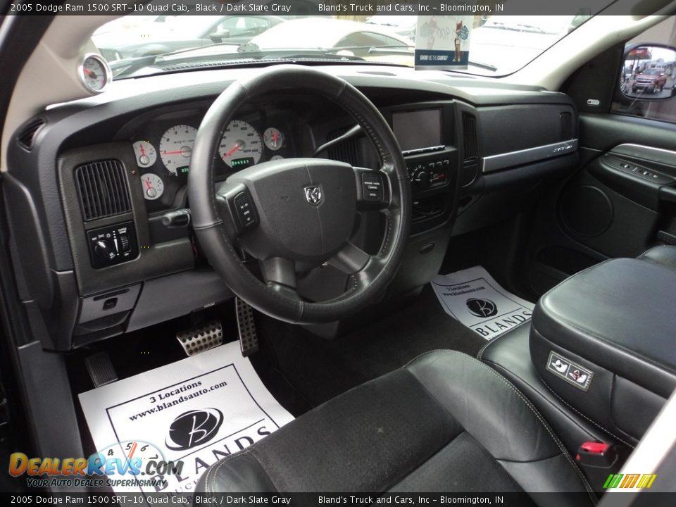 Dark Slate Gray Interior - 2005 Dodge Ram 1500 SRT-10 Quad Cab Photo #9