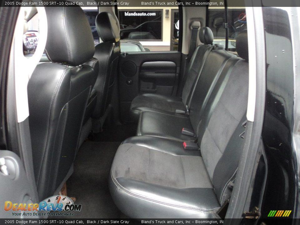 Rear Seat of 2005 Dodge Ram 1500 SRT-10 Quad Cab Photo #11