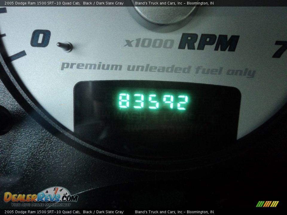 2005 Dodge Ram 1500 SRT-10 Quad Cab Black / Dark Slate Gray Photo #18