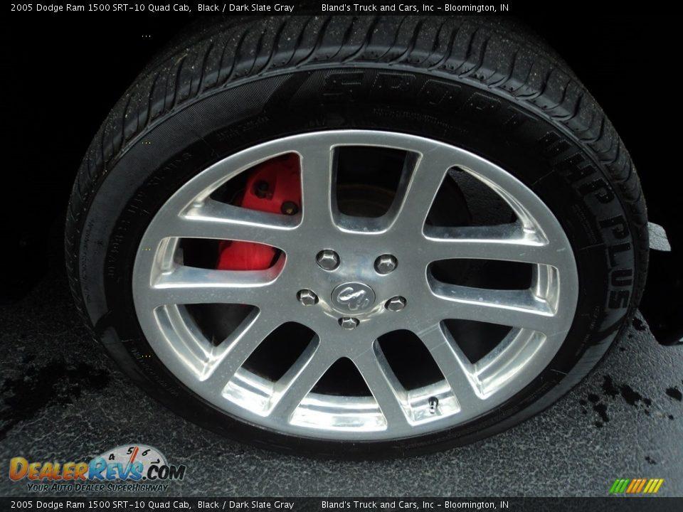 2005 Dodge Ram 1500 SRT-10 Quad Cab Black / Dark Slate Gray Photo #25
