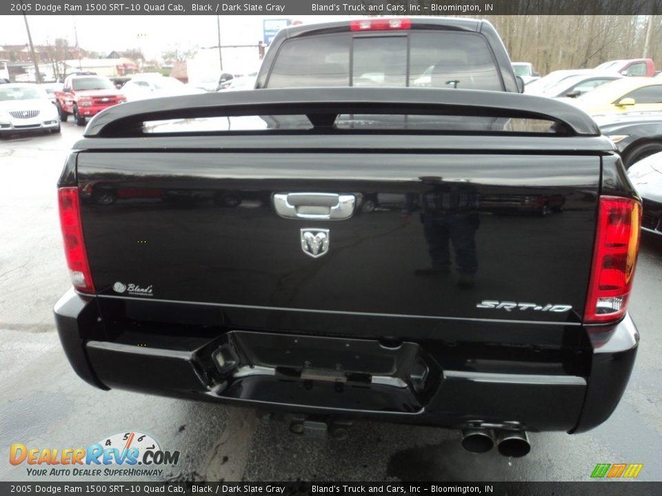 2005 Dodge Ram 1500 SRT-10 Quad Cab Black / Dark Slate Gray Photo #26