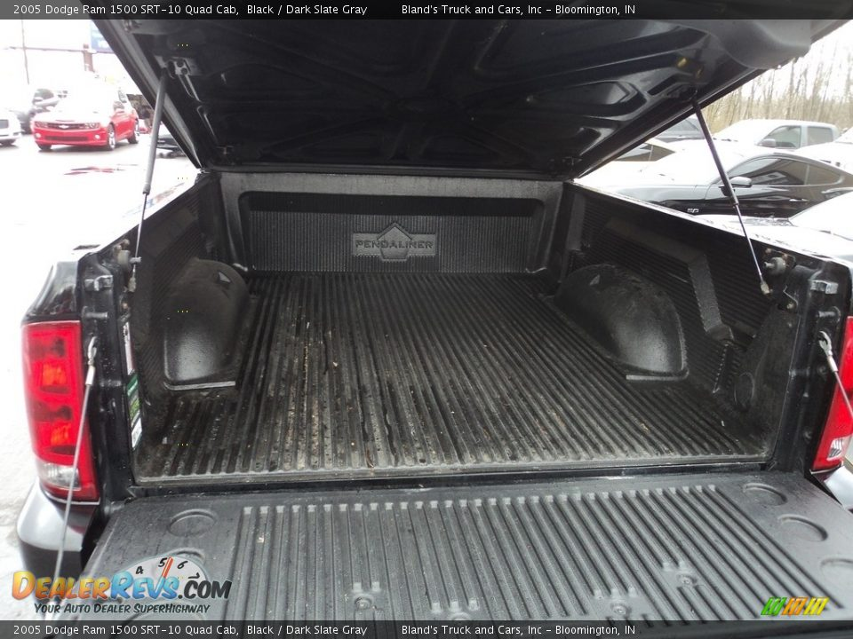 2005 Dodge Ram 1500 SRT-10 Quad Cab Black / Dark Slate Gray Photo #29